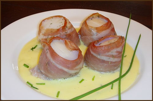 Prosciutto Wrapped Scallops - Belly Full