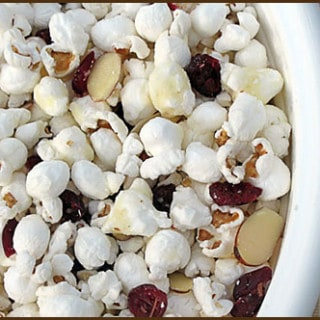 Homemade Holiday Gifts – Cranberry Almond Bark and White Chocolate Popcorn