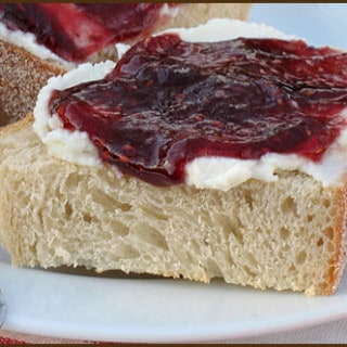 Ricotta and Jam Toast