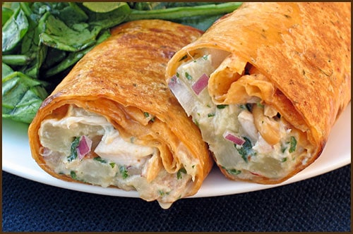 Thai Chicken Curry Wraps - Belly Full