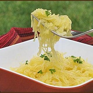 Spaghetti Squash with Onion, Garlic, and Parmesan