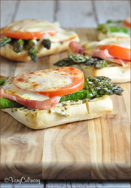 Asparagus Muenster Melt with Pesto Spread