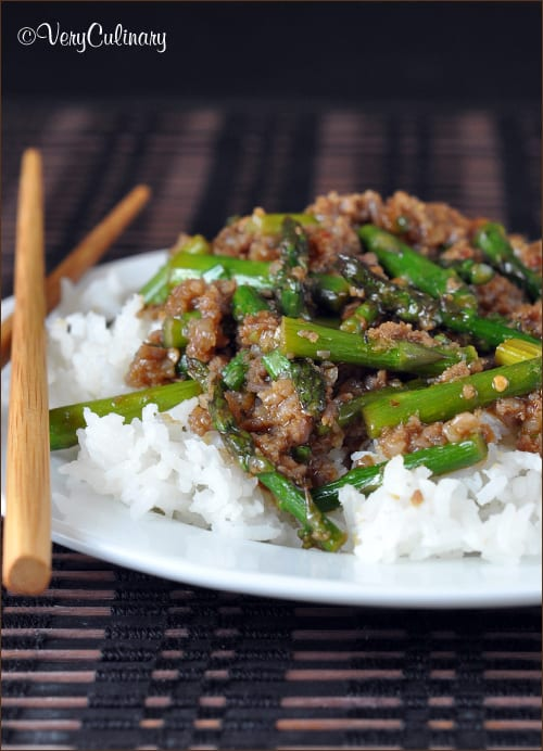 Spicy Pork Asparagus Stir-Fry | Very Culinary