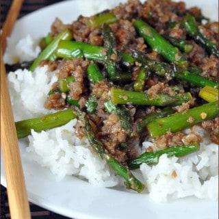 Spicy Pork Asparagus Stir-Fry | Very Culinary