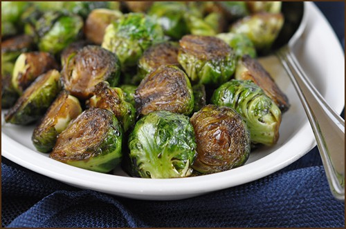 Sauteed Brussels with Molasses