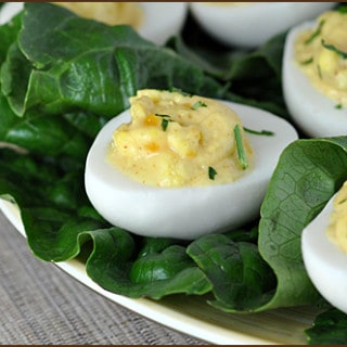 Apricot Curry Deviled Eggs