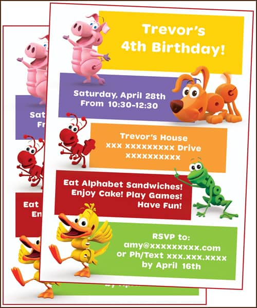 How To Host A Word World Birthday Party Invite