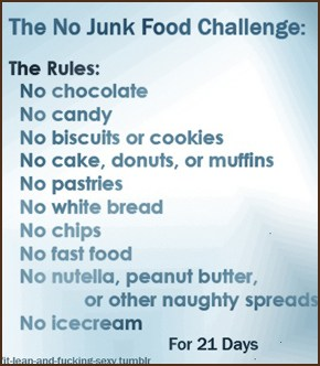 21 Day No Junk Food Challenge