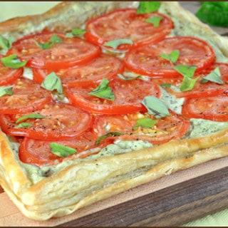 Tomato and Basil Tart   Very Culinary