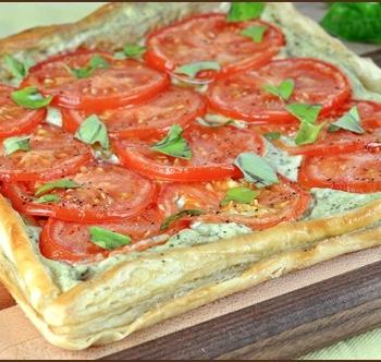 Tomato and Basil Tart | Very Culinary