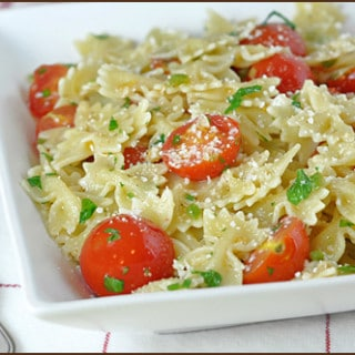 Pasta with Cherry Tomatoes, Jalapeños, and Parmesan