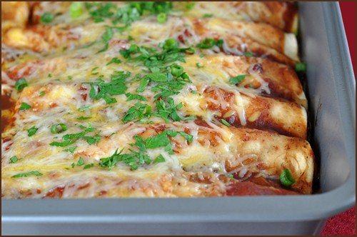 Cran-Turkey Enchiladas (the BEST use of leftover turkey ever! Can also use chicken) | Very Culinary