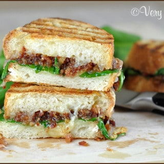 Bacon Jam Panini with Fontina and Baby Spinach