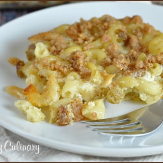 Baked Kugel Mac and Ricotta Cheese