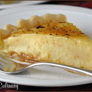 Caramel Creme Brulee Pie