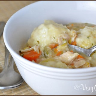 Chicken Soup with Chive Dumplings