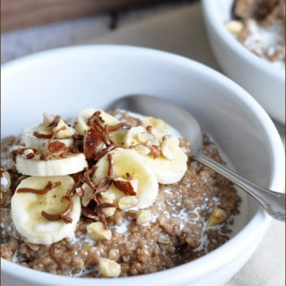 Chocolate-Almond Steel Cut Oatmeal