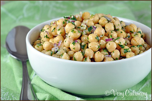 Cumin-Lime Chickpea Salad | Very Culinary