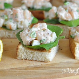 Kicked-up Shrimp Canapes