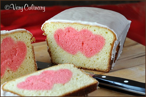 Valentine's Day Peek-A-Boo Pound Cake loaf