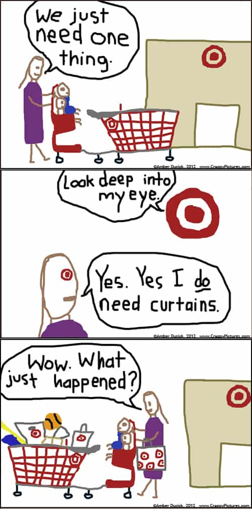 Shopping at Target