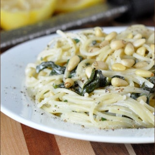 Creamy Goat Cheese Pasta with Lemon and Spinach | Very Culinary