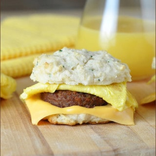 Sausage and Egg Biscuit Sandwiches
