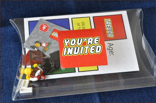Lego Party Boxed Invitation | Very Culinary
