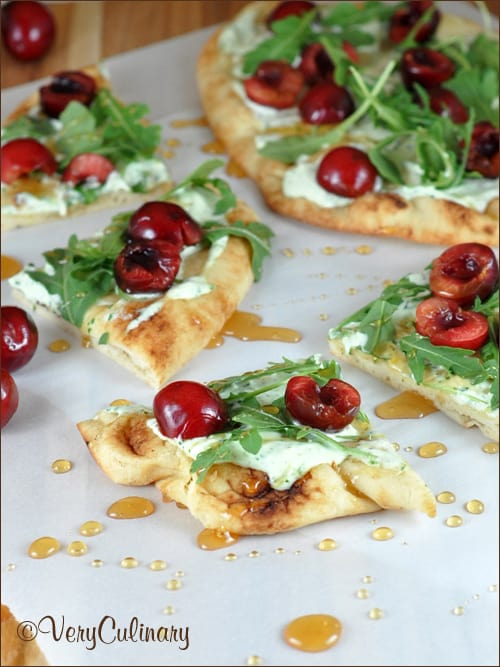 Cherry Pizza with Herbed Mascarpone Cheese   Very Culinary