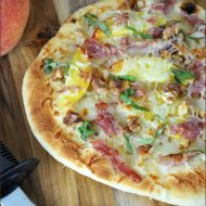 Grilled Peach and Coppa Pizza | Very Culinary
