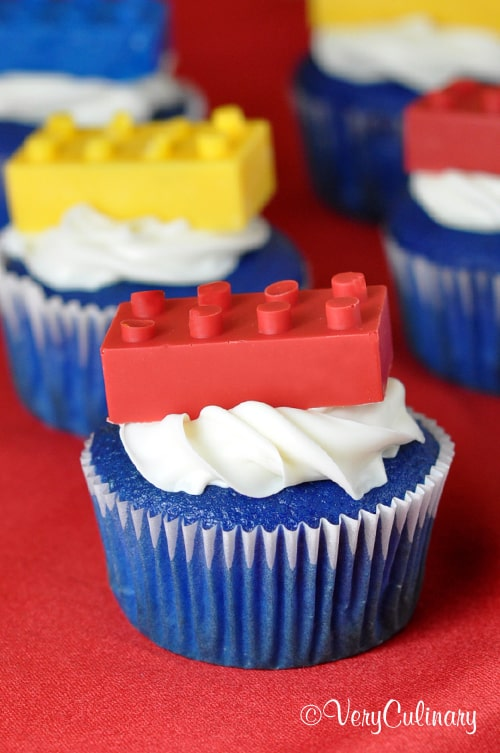 Lego Brick Cupcakes | Very Culinary