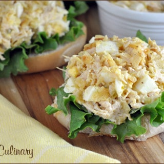 Open Faced Tuna Egg Salad with Kettle Chips   Very Culinary