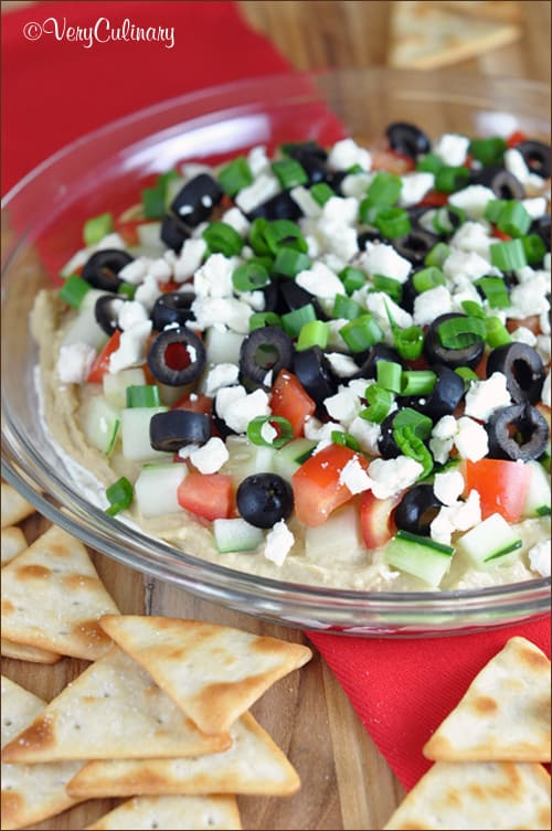 Layered Greek Dip | Very Culinary