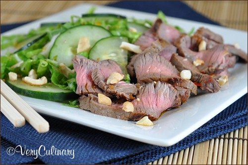 Asian Grilled Steak Salad | Very Culinary