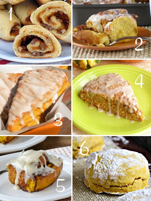 Pumpkin Round-Up (Pastries and Scones)