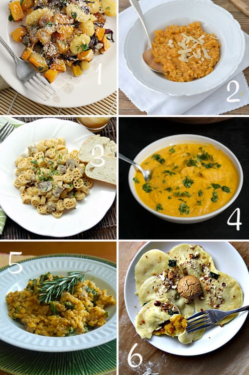 Pumpkin Round-Up (Pasta and more)