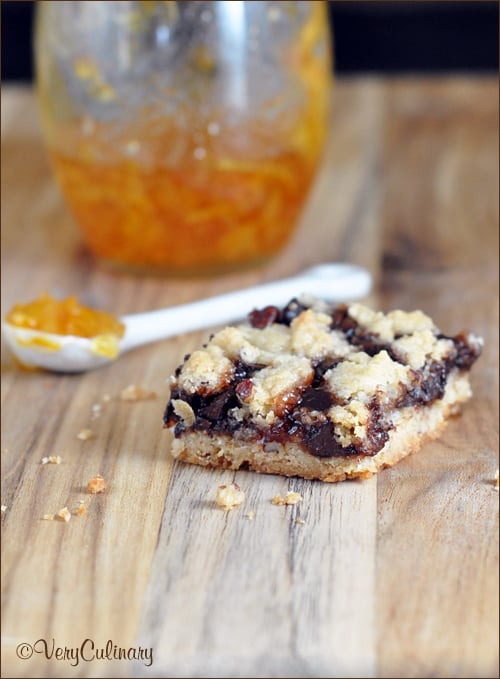 Triple-Jam Chocolate Crumb Bars | Very Culinary
