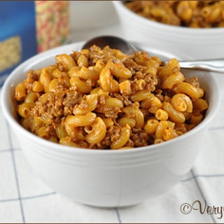 Cheeseburger Macaroni from Very Culinary