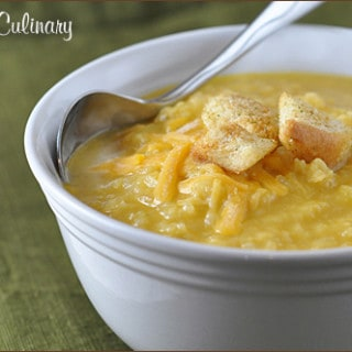 Creamy Cauliflower Cheddar Soup | Very Culinary