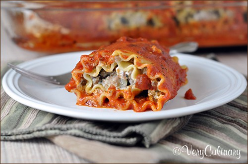 Sausage Lasagna Rolls from Very Culinary