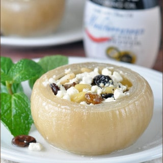 Slow Cooked Greek Stuffed Onions using Star Fine Foods Italian Cooking Oil