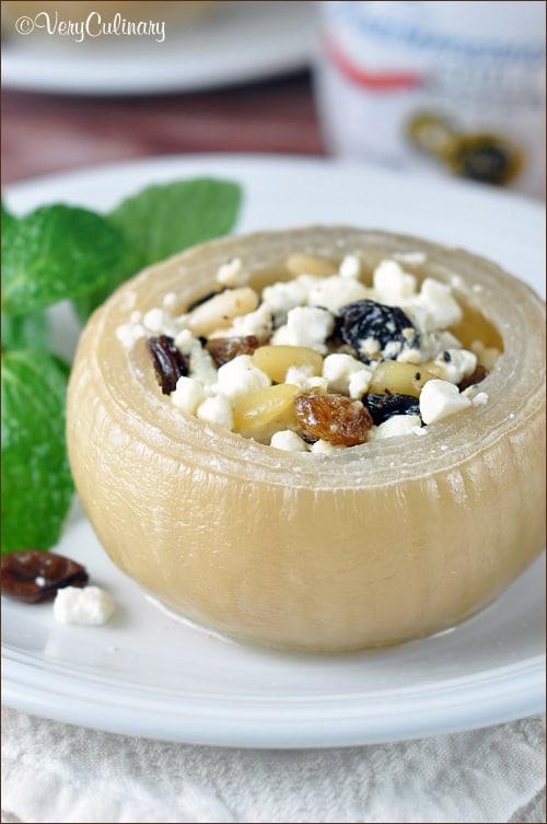 Slow Cooked Greek Stuffed Onions on www.bellyfull.net