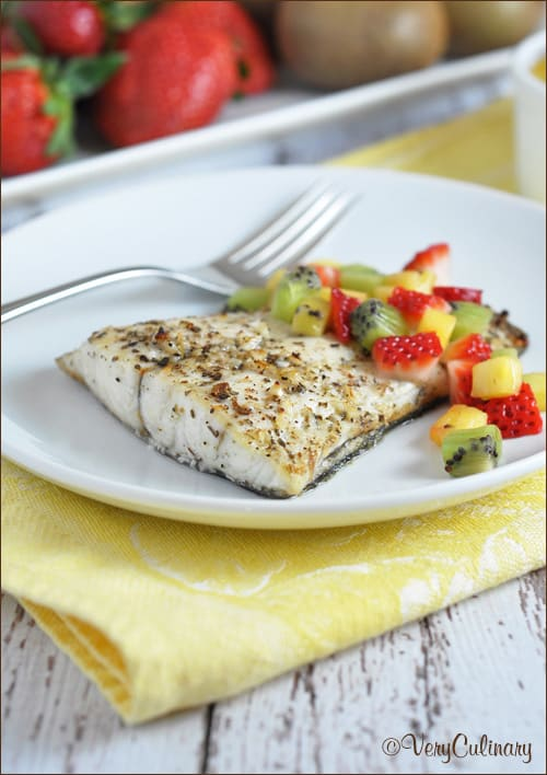 Barramundi with fruit salsa for Fruit salsa for fish