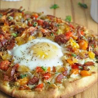 Breakfast Pizza for #PizzaWeek