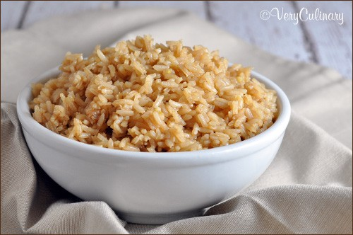 Rice Pilaf with sautéed onions and beef consommé
