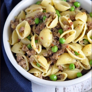 Sausage and Pea Pasta