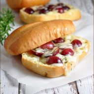 Melted Fontina with Grapes on Ciabatta