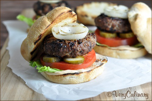 Barbecue Onion Burger #BurgerWeek