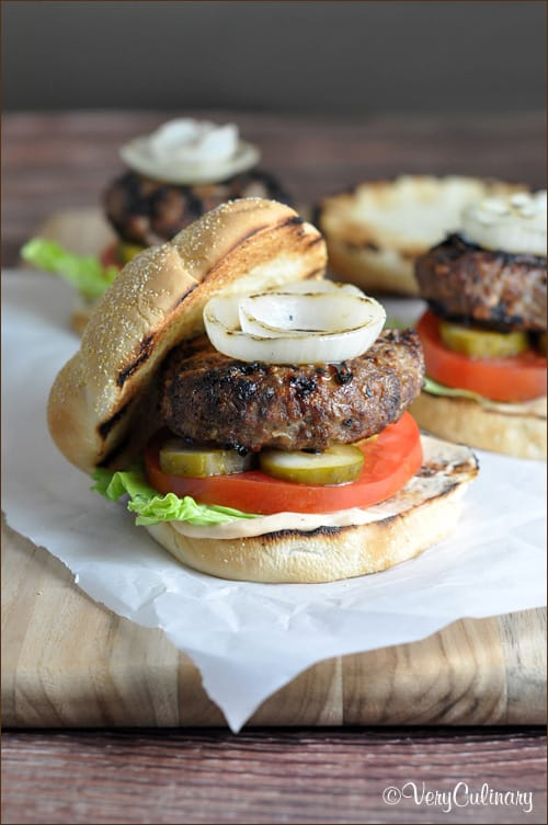 BBQ Onion Burger #BurgerWeek