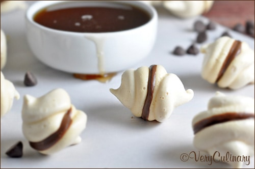 Maple Meringues with Dark Chocolate